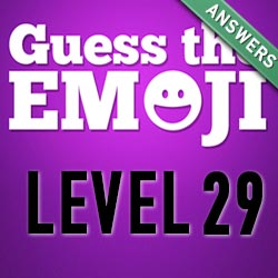 guess the emoji level 29