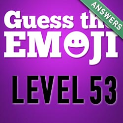 guess the emoji level 53